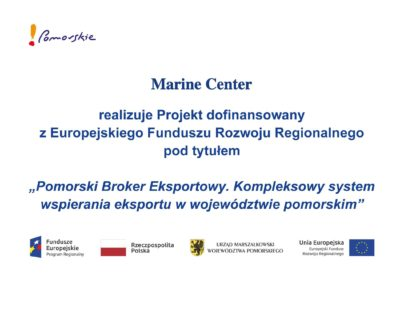 Pomorski Broker Eksportowy. Kompleksowy system wspierania eksportu w województwie pomorskim